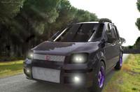 nuova-fiat-panda car dxf