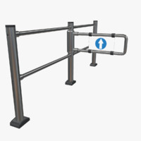 shop swing gate 3d obj