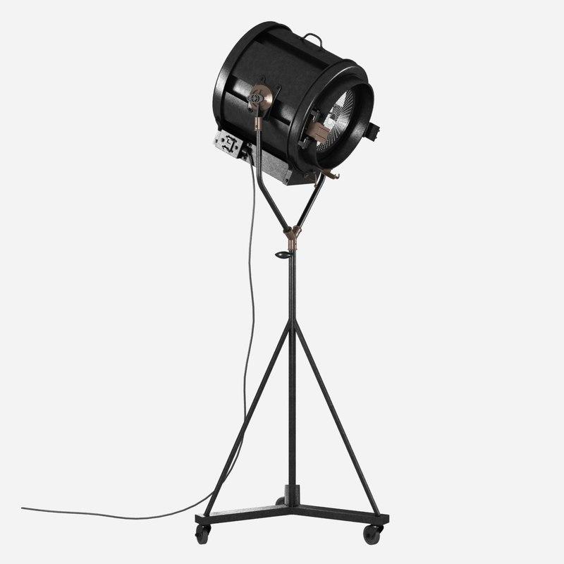 light iconic 40 s 3d model