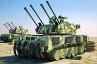 3d model aaa army tank