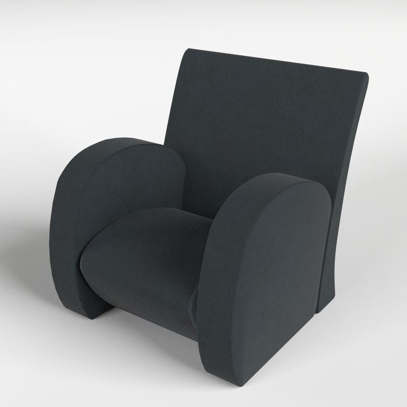 armchair 1 3d model