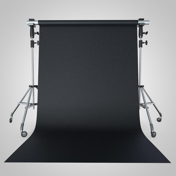 3d backdrop tripod
