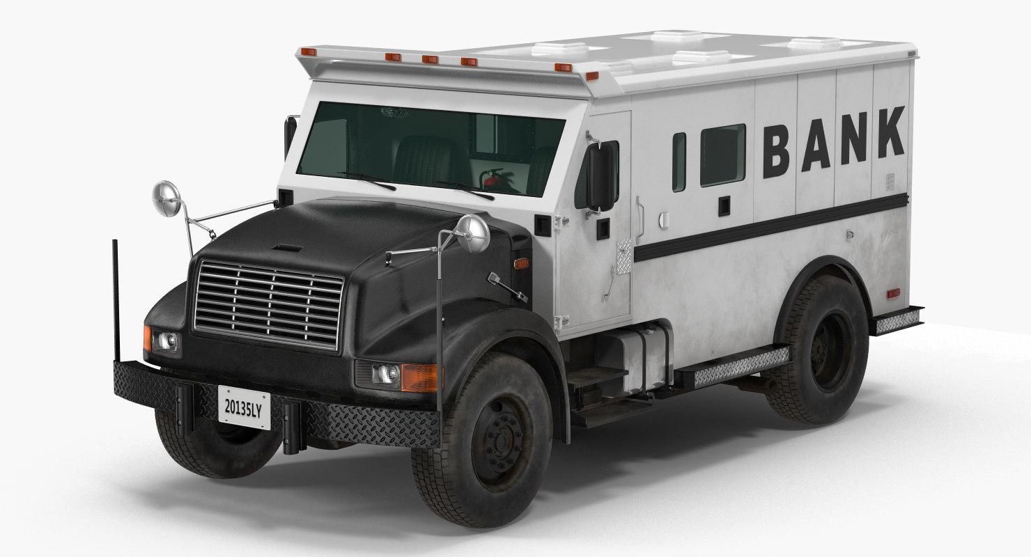 3d bank armored car 2 model