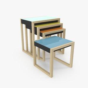 3d model albers nesting tables