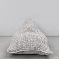 Grey Knit beanbag