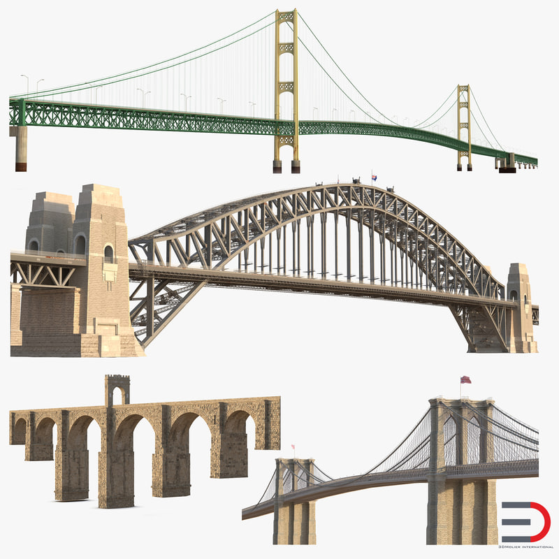 bridges 3 3d model