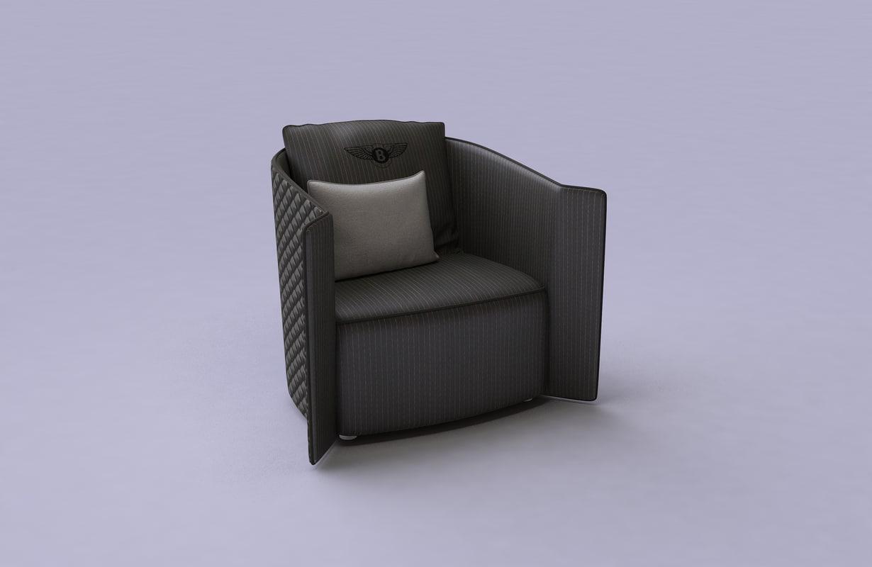 bentley armchair 3d model