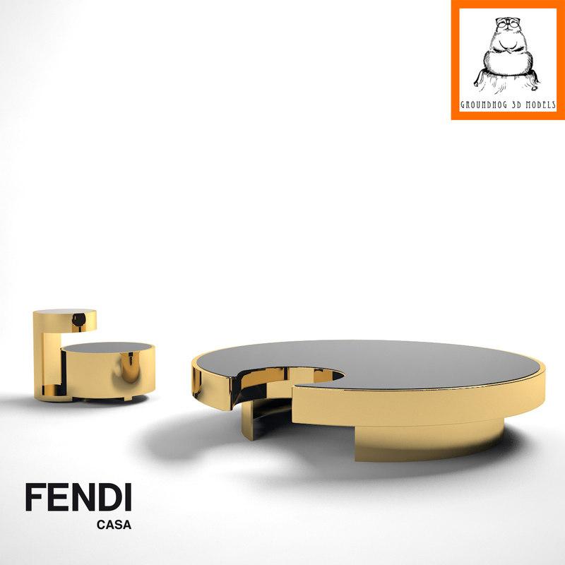Groundhog 3d Models Fendi Casa Constellation Tables