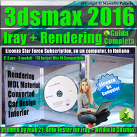 Iray + 3ds max 2016 Rendering Guida Completa Locked Subscription, un Computer