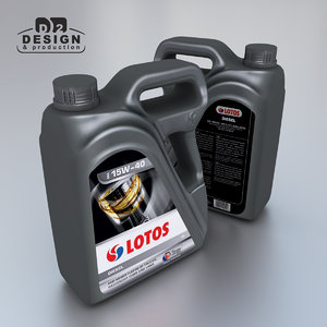 motor oil 4l container 3d model