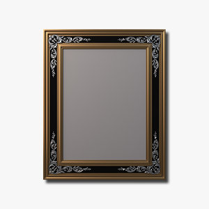engraved mirror antiqued glass 3d max