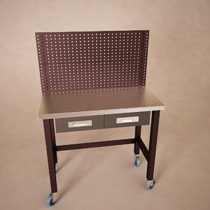 workbench table 3d model