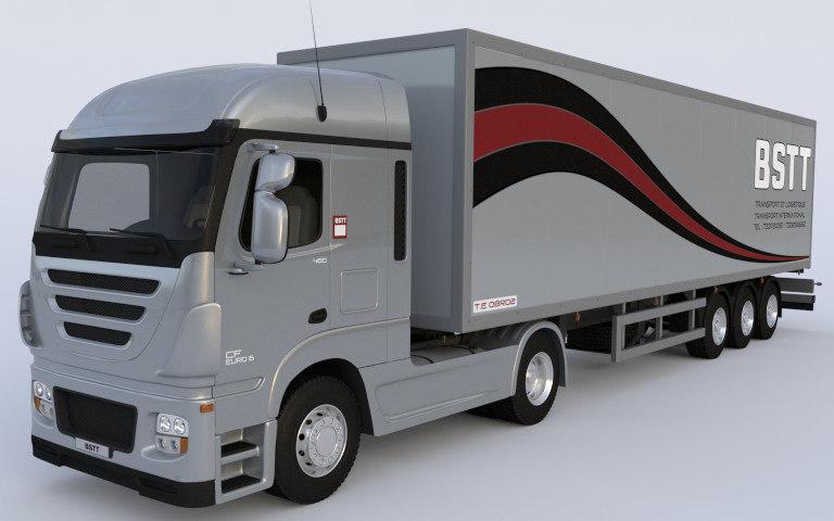 3d model large goods vehicle