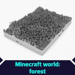 3d minecraft forest