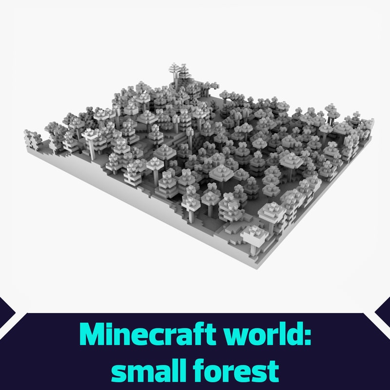 small forest minecraft 3d model