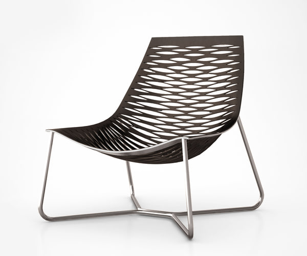 york lounge chair 3d model