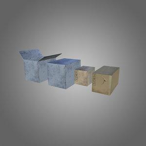3d pack boxes model