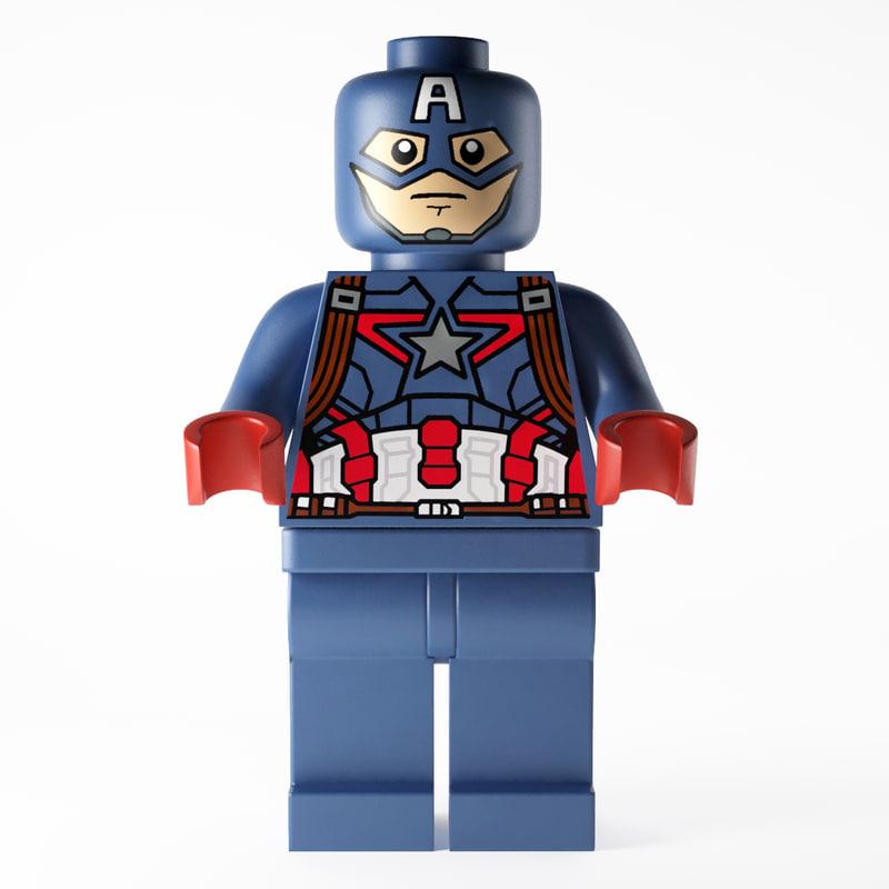 max lego captain america