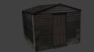 obj old garden shed