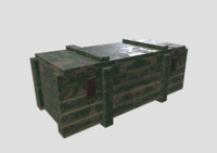wooden crate 3d fbx