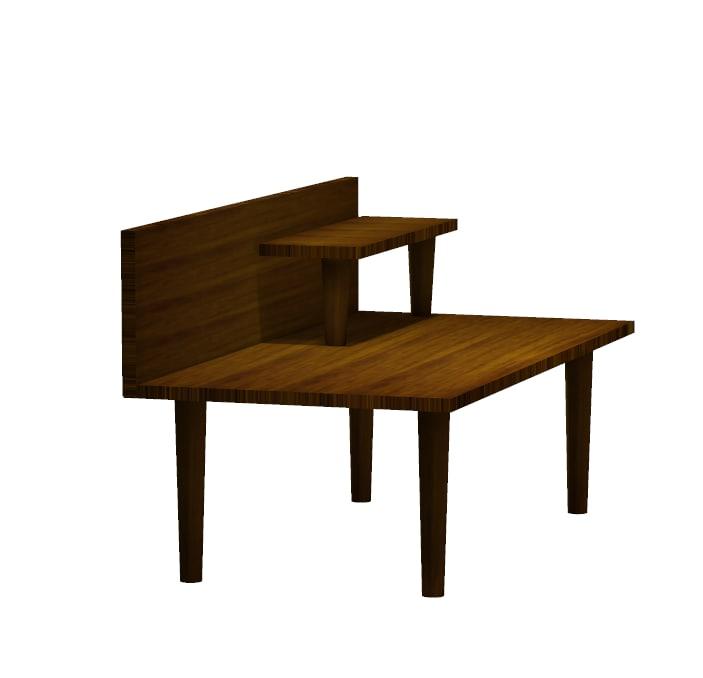 free obj mode wood work bench