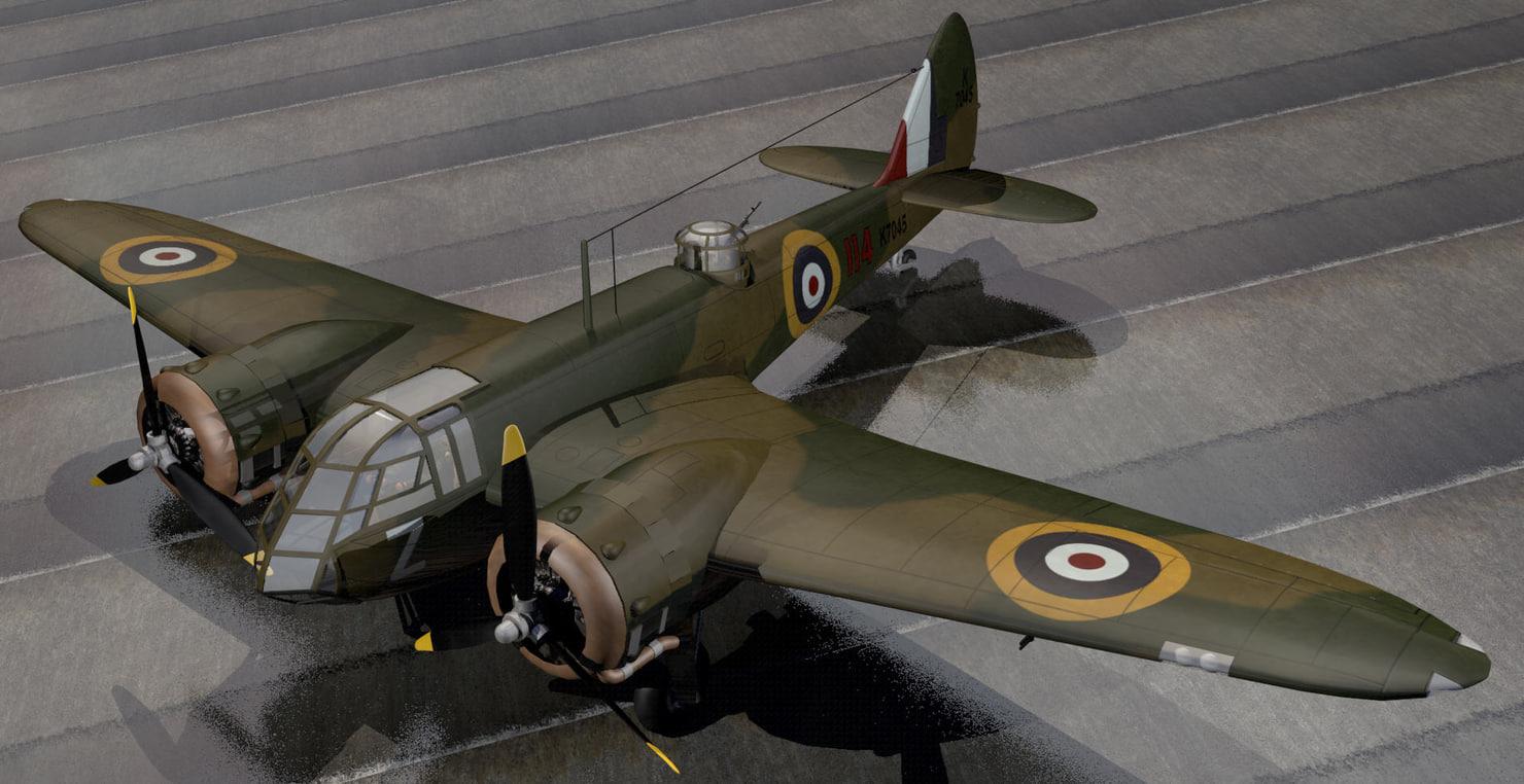 3ds plane bristol blenheim mk-1