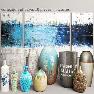 vases pictures dimond 3d model