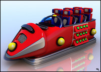 3d model of roller coaster car