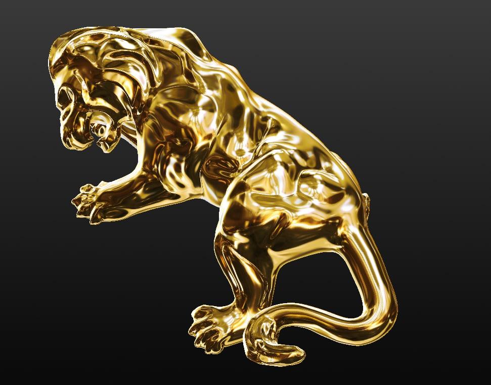 lion ring obj