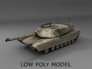 m1a2 abrams tank 3d obj