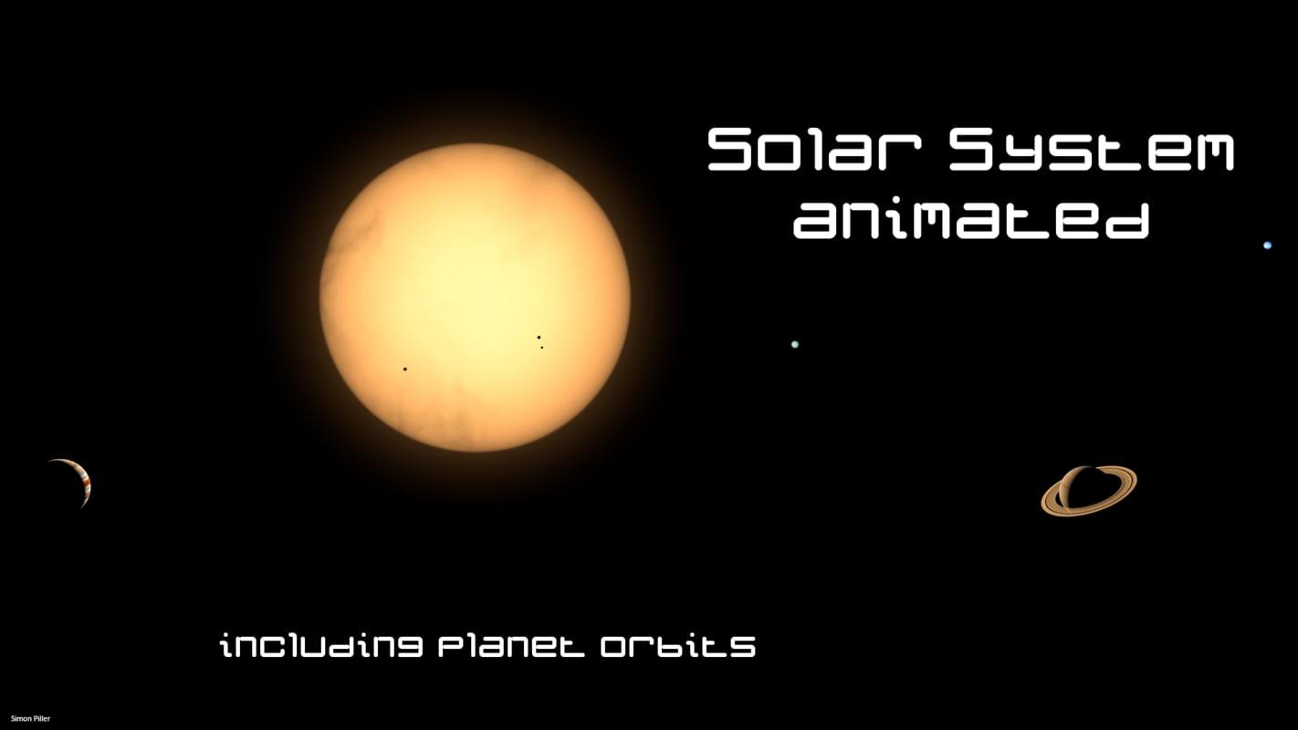 3d solar planets earth