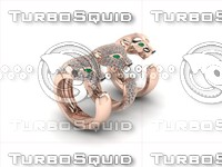 3d model tiger rings