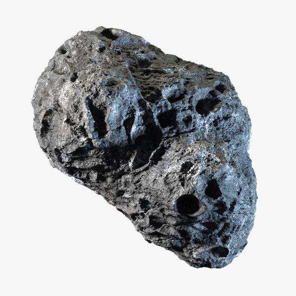 3d model asteroid 01