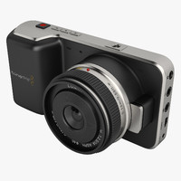 3d blackmagic pocket camera model