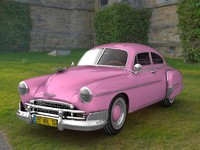 antique chevy fleetline 1950 3d c4d