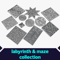 labyrinths mazes elements 3d model
