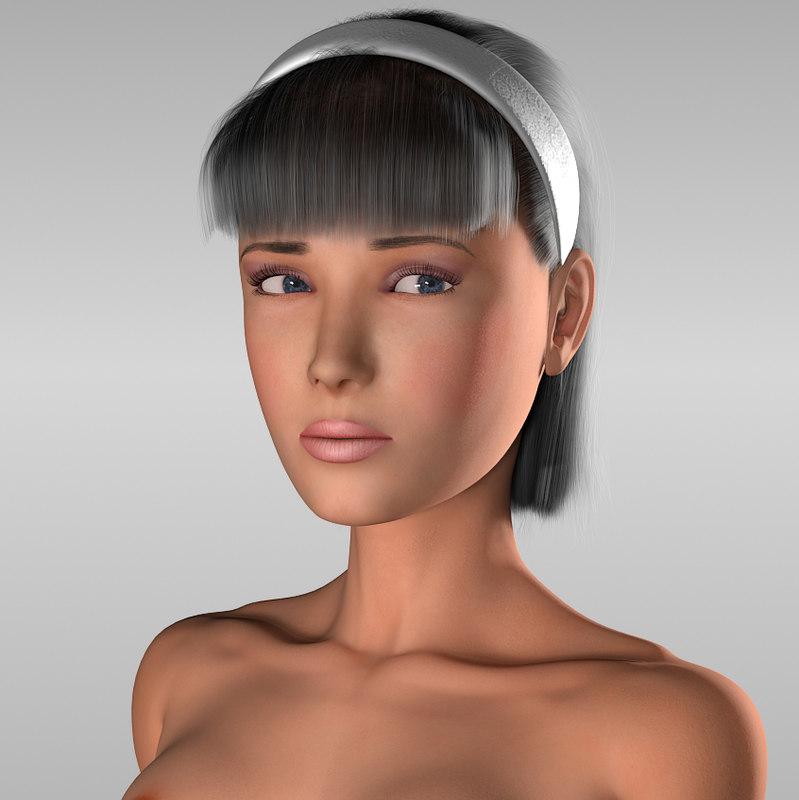 raskrivushka girl 3d model