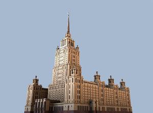 3d radisson royal hotel model