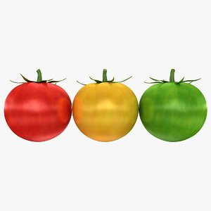 3d realistic cherry tomatoes 3 model