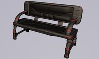 3d bench sci-fi furniture