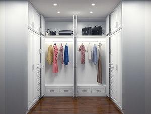 3d walk closet wardrobe