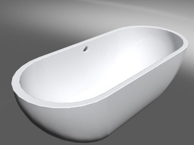 bathroom tub center drain 3d model