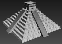 3d chichenitza pyramid model