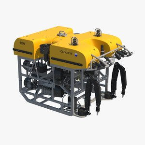 3d remotely operated underwater vehicle