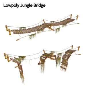 jungle bridge 3d model