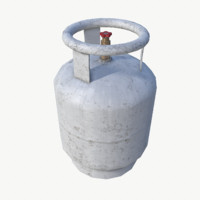gas cylinder 3d max