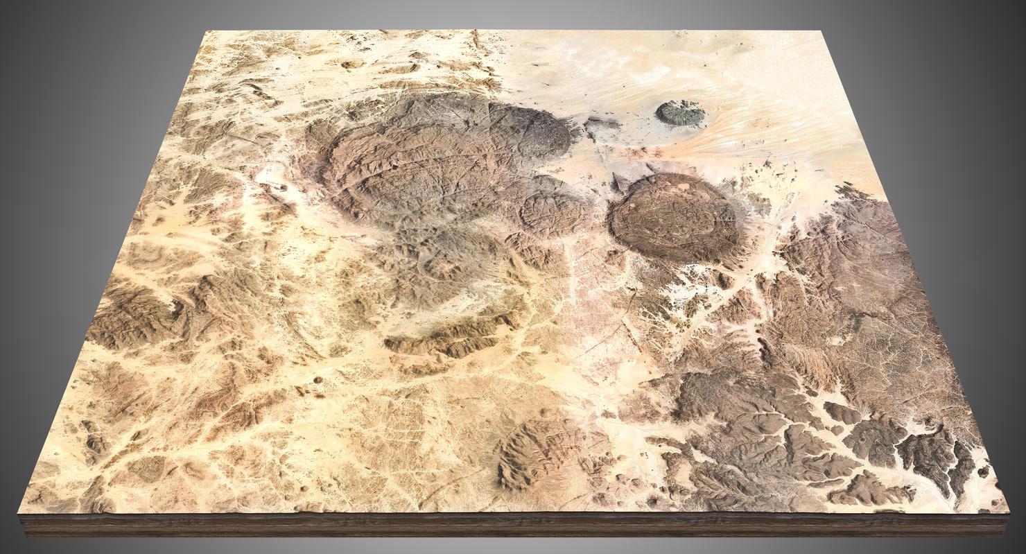 3d rocky desert model
