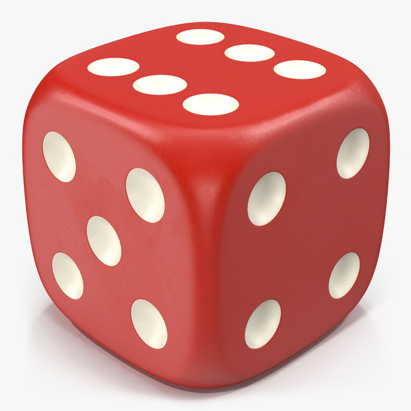 3d 6 edged dice model