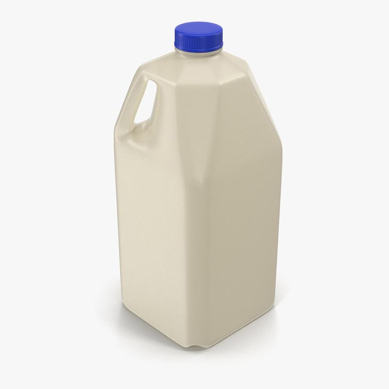 milk half gallon plastic bottle 3d 3ds