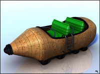 roller coaster car 3d obj